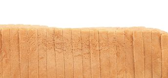 Sliced loaf of white bread Stock Images