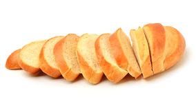 Sliced long loaf bread Stock Images