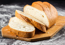 Sliced long loaf Royalty Free Stock Images
