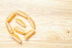 Sliced mandarine Stock Photo
