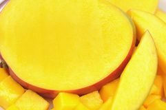 Sliced mango Stock Photography