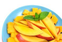 Sliced mango Stock Photos
