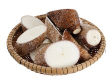 Sliced manioc Royalty Free Stock Photo