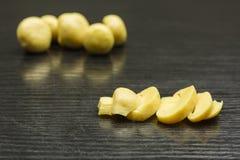 Sliced marinated Agaricus. Royalty Free Stock Image