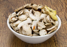 Sliced mashrooms for cooking Stock Photography