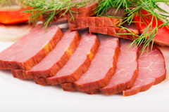 Sliced meat Royalty Free Stock Photography