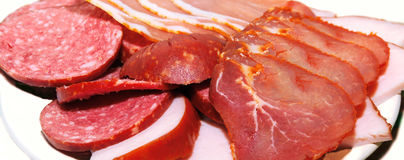 Sliced meat products Stock Images