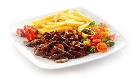 Sliced Meat traditional german food Geschnetzeltes Stock Image
