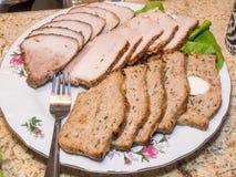 Sliced meatloaf Stock Photos