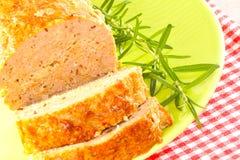 Sliced meatloaf Royalty Free Stock Images