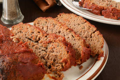 Sliced meatloaf Stock Images