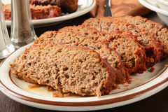 Sliced meatloaf Stock Photos