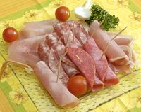 Sliced meats Stock Image