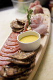 Sliced Meats Platter Royalty Free Stock Photo