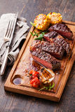 Sliced medium rare grilled Beef steak Royalty Free Stock Photography