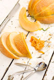 Sliced melon on the table Royalty Free Stock Photography