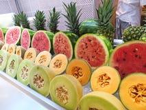 Sliced melon Stock Photos