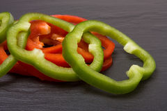Sliced Mixed Peppers Royalty Free Stock Photo