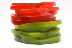 Sliced Mixed Peppers Royalty Free Stock Image