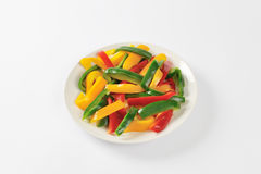 Sliced Mixed Peppers Royalty Free Stock Photos