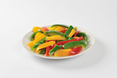 Sliced Mixed Peppers Royalty Free Stock Photography