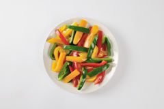 Sliced Mixed Peppers Stock Photography