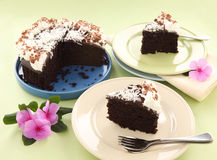 Sliced Mud Cake Royalty Free Stock Photography