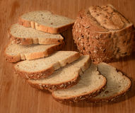 Sliced multigrain bread. Royalty Free Stock Image