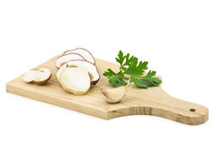 Sliced mushroom (cepe) stock photo