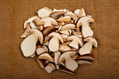 Sliced mushrooms Royalty Free Stock Photo