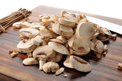 Sliced mushrooms Stock Photo