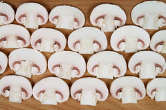 Sliced mushrooms Stock Photo