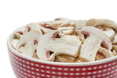 Sliced mushrooms in a bowl Royalty Free Stock Images