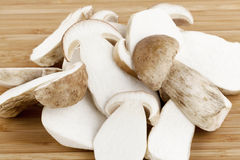 Sliced mushrooms Stock Photography