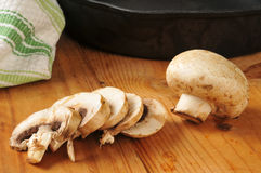 Sliced mushrooms Stock Image