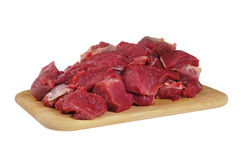 The sliced mutton Stock Image