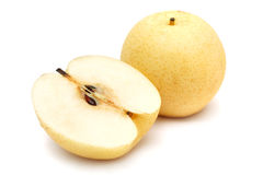 Sliced Nashi Pears Royalty Free Stock Images