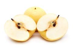 Sliced Nashi Pears Royalty Free Stock Photography