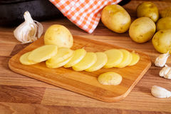 Sliced New Potatoes. Stock Photography