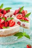 No Bake Strawberry Cheesecake Stock Photography