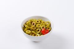 Sliced olives Royalty Free Stock Photos