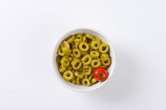 Sliced olives Stock Images