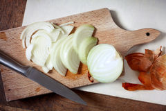 Sliced onion stock images