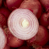 Sliced onion at the local market Royalty Free Stock Image
