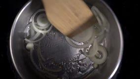 Sliced onion stock video