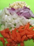 Sliced onions. Vegetable and onions slice Royalty Free Stock Images
