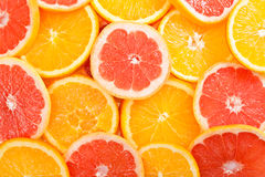 Sliced orange Stock Photo