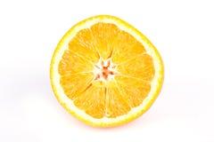 Sliced orange. Ripe sliced orange isolated on white background stock image