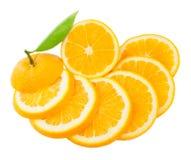 Sliced orange Stock Photos