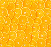 Sliced orange background Royalty Free Stock Image